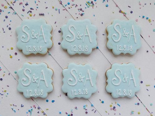 Wedding Initials Biscuits