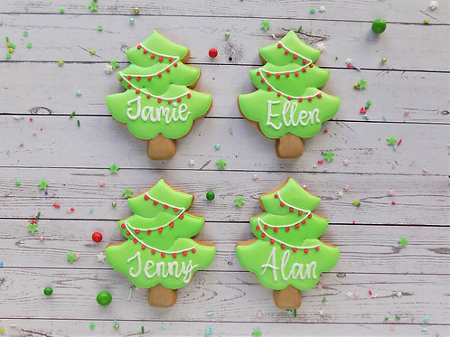 Individual Christmas Tree Biscuit