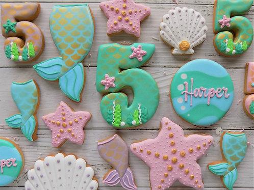 Mermaid Individual Biscuits