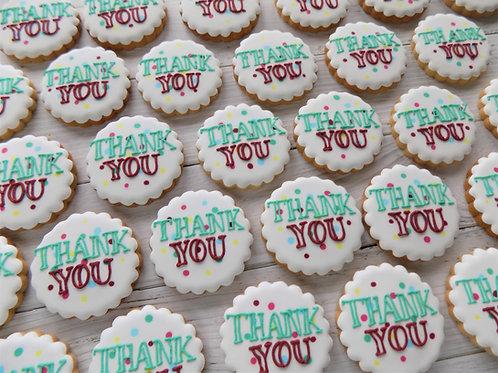 Polka Dot Thank You Individual Biscuits