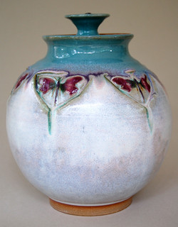 Dragonfly Covered Pot