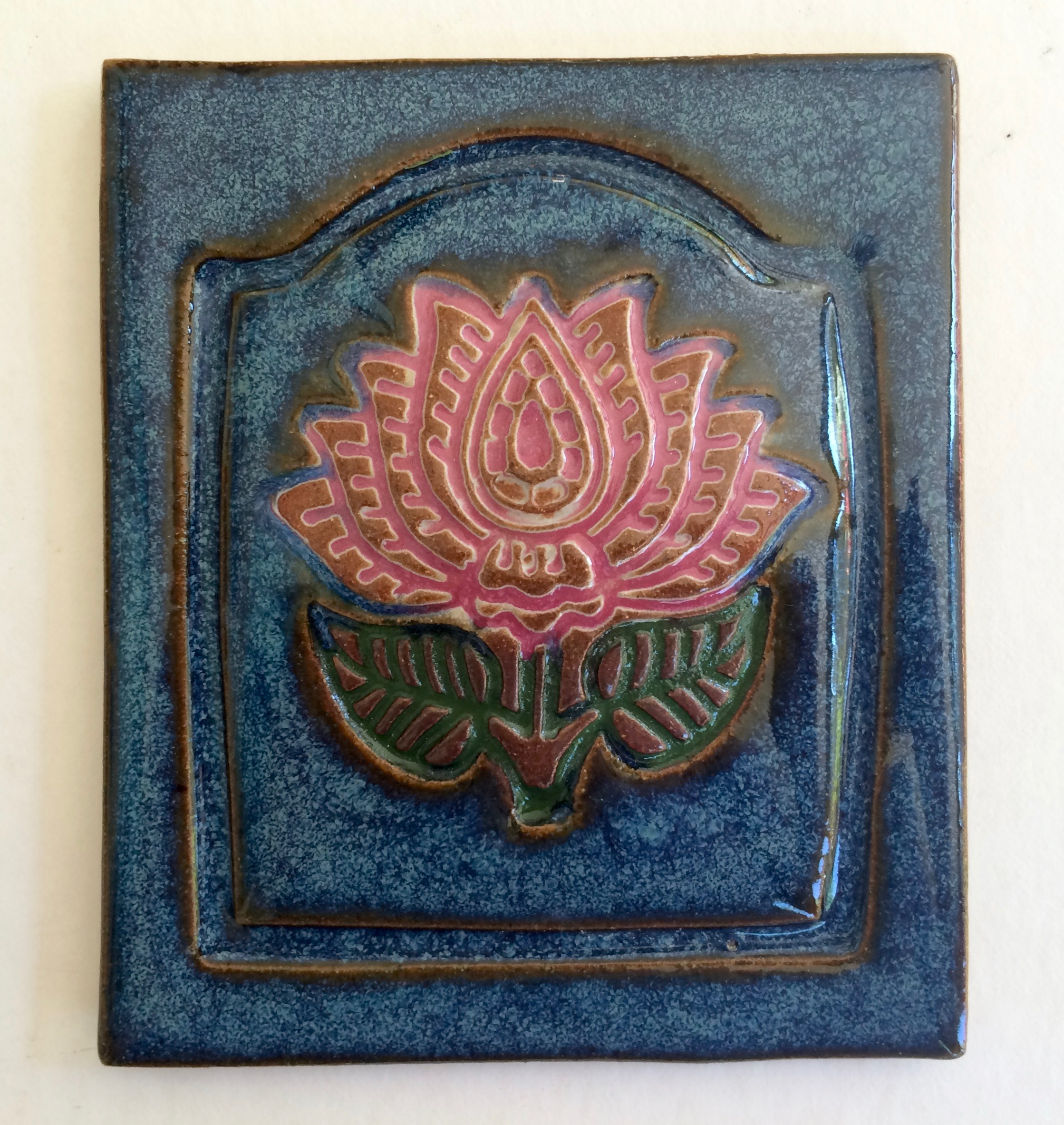 Lotus Tile - Blue