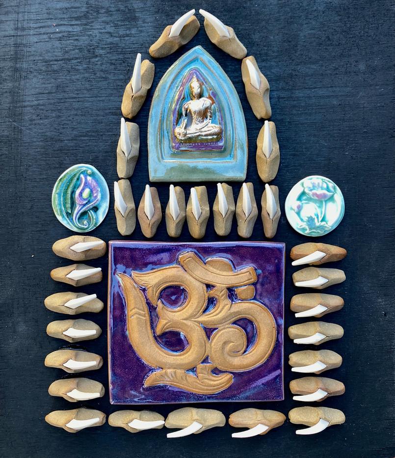"""Golden Buddha - 10.5""""x 12"""" - $100"""