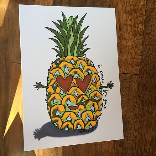 I Pine For You greeting Card