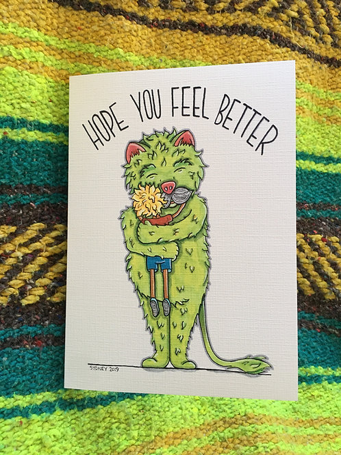 Hope You Feel Better Greeting Card