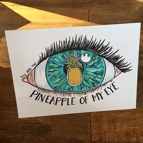 Pineapple of My Eye Greeting Card