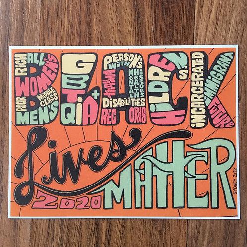 All Black Lives Matter Postcard