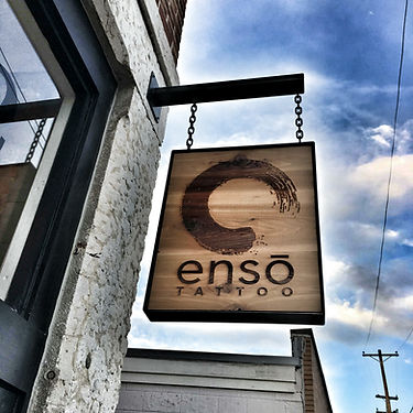 Custom Signage - Enso Tattoo