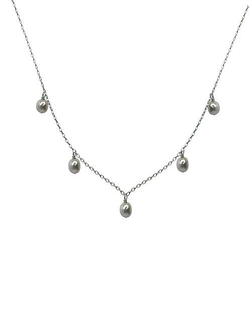 Collar Perlas de Río Colgantes
