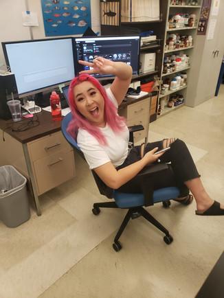 Gabby takes a break