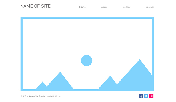 Blanco templates website templates – Minimalistische indeling