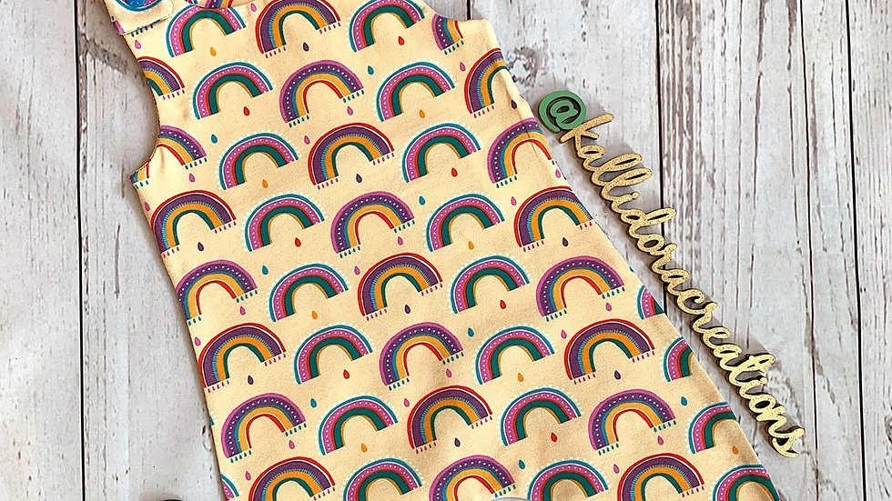 Wonky Rainbows Dungarees
