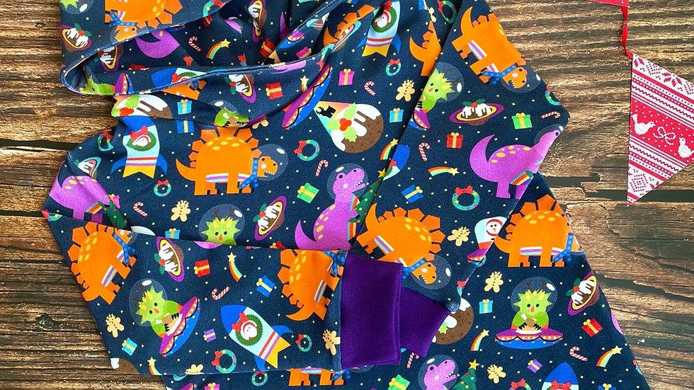 Christmas Bonkers Space Dinos Hoodie