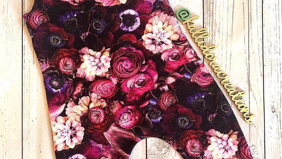 Purple Flowers Dungarees