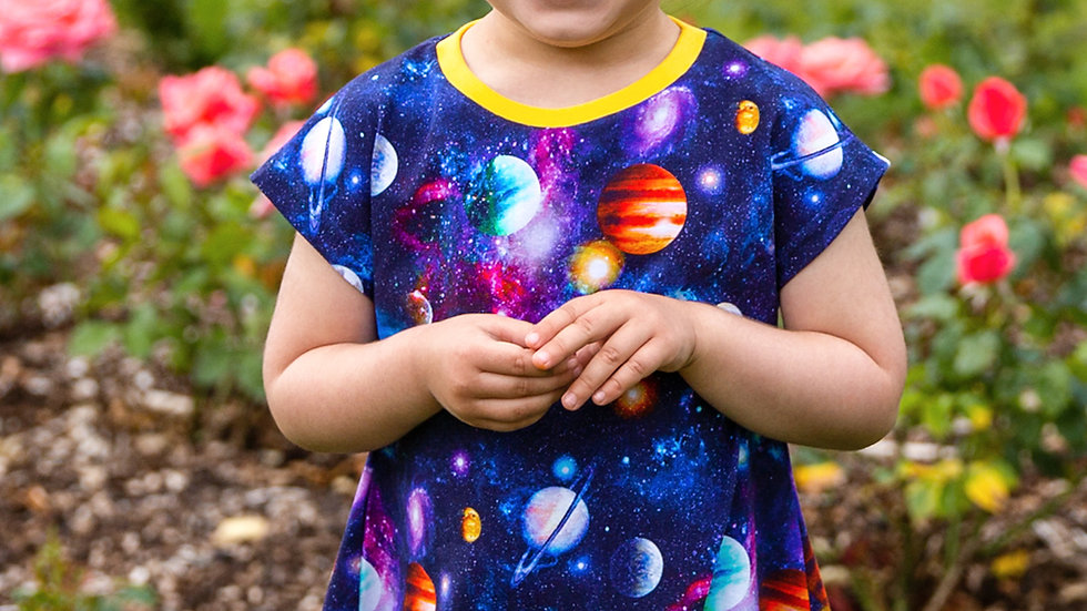 Bright Planets T-Shirt Dress