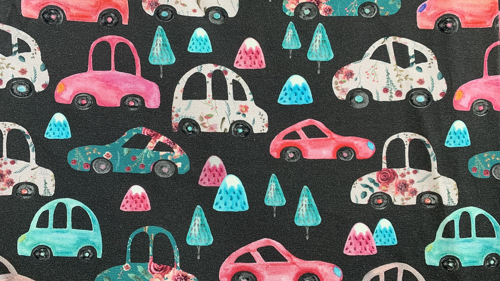 Floral Cars T-Shirt Dress