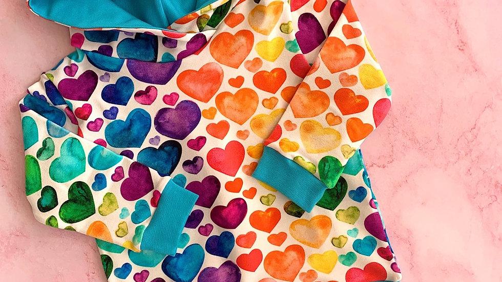 Rainbow Hearts Hoodie