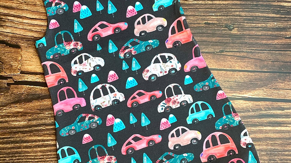 Floral Cars Dungarees