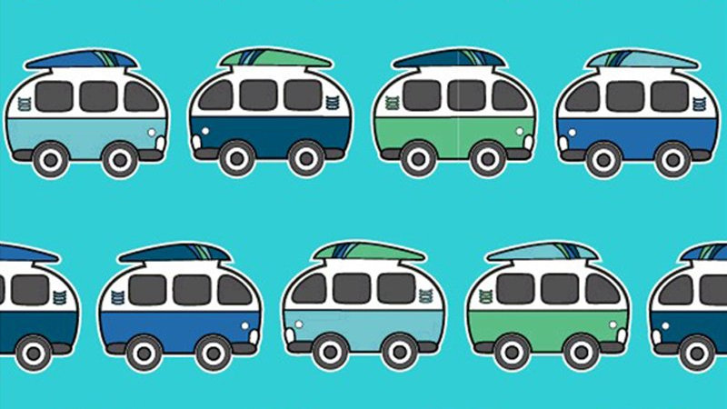 Blue Camper Vans Dungarees