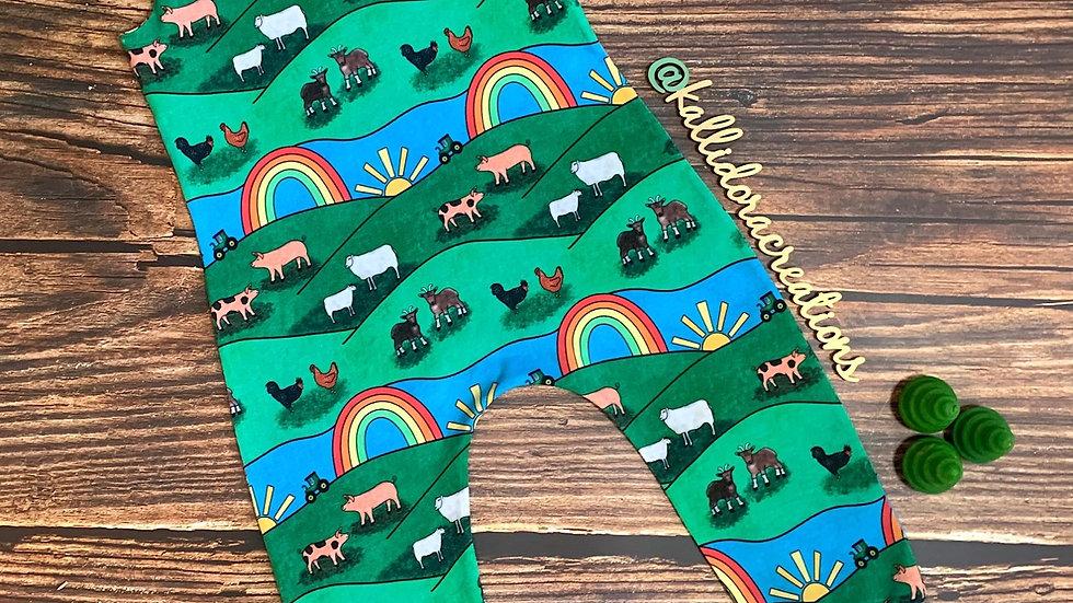 Farmyard Rainbows Dungarees