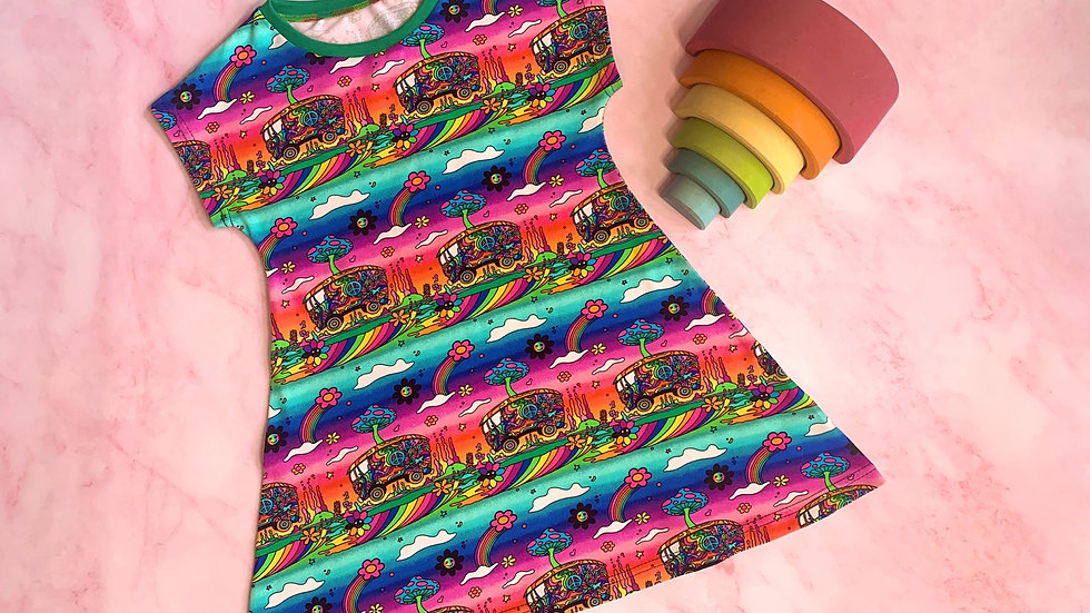 Psychedelic Campers T-Shirt Dress