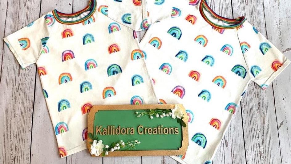 Watercolour Rainbows T-Shirt