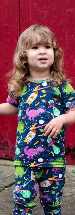 Bonkers Space Dinos T-shirt & Harems