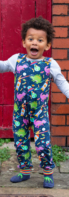 Bonkers Space Dinos Dungarees