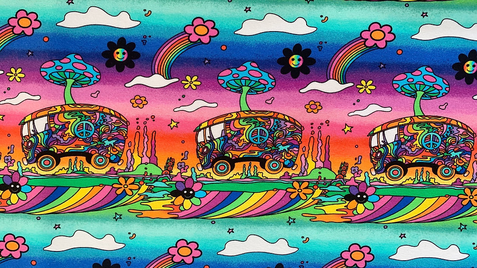 Psychedelic Campers Dungarees
