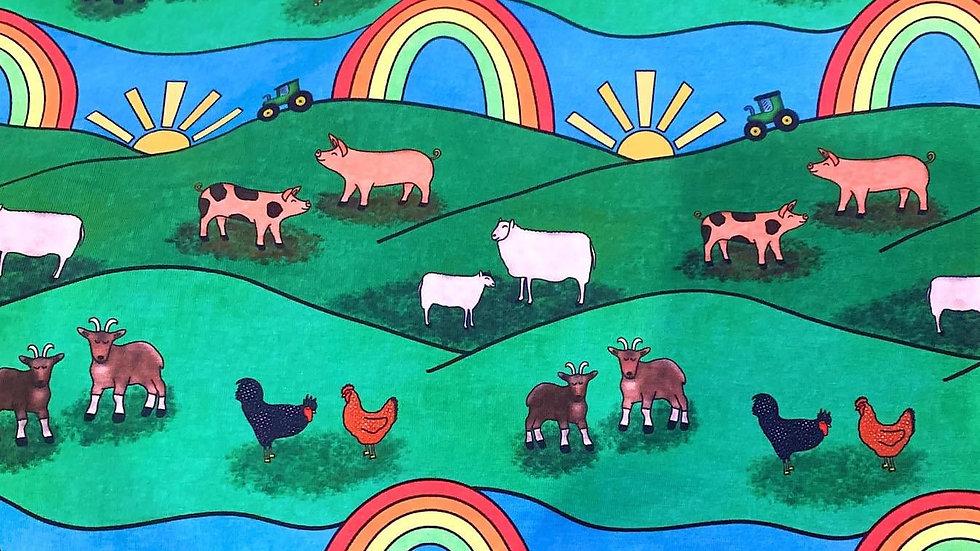 Farmyard Rainbows T-Shirt Dress