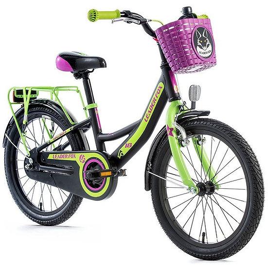 """Børnecykel Leader Fox BUSBY 18"""" Fås i sort farve"""