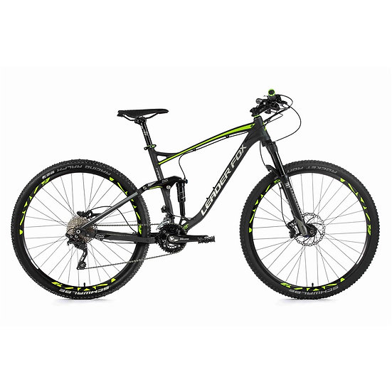 "Fuld suspension MTB Leader Fox HARPER 29 "", 2019-1 20"" SVART MATT / GREEN"