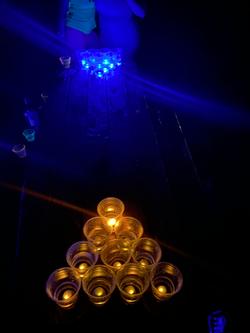 Glow in the dark beer pong