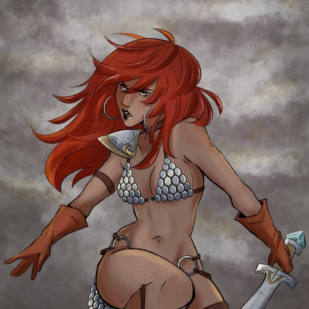 Jade Hope's Red Sonja variant cover fuels Indiegogo campaign from Dynamite