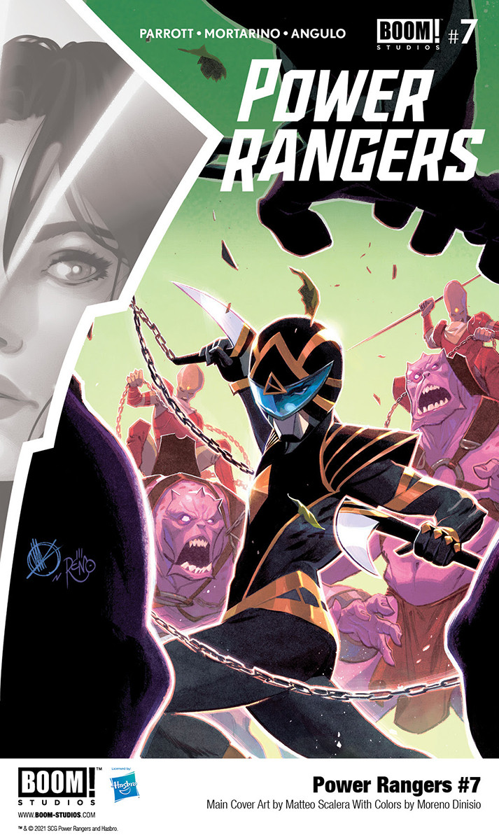 """Main cover of """"Power Rangers"""" No. 7 by Matteo Scalera"""