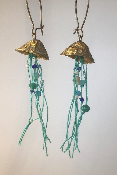 Boucle d'oreilles méduses