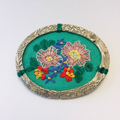 Broche Fleurs sauvages