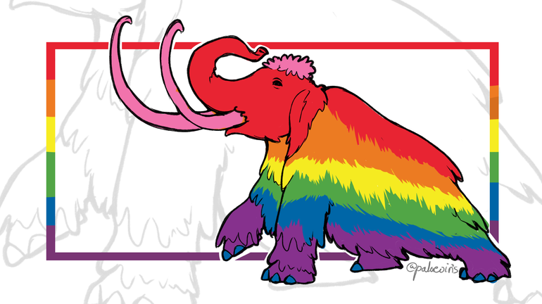 The First Pride Flag Mammoth