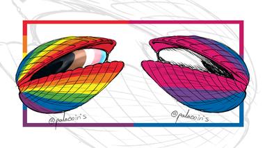 Progress Pride Flag and Bisexual Pride Flag Bivalve