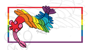 The First Pride Flag Opabinia