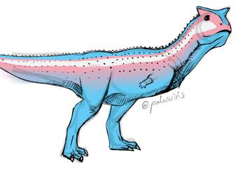 Transgender Pride Flag Carnotaurus