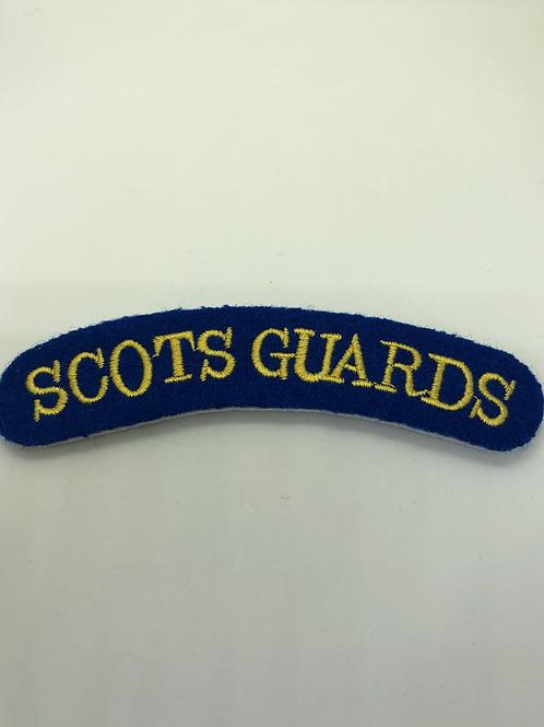 Scots Guards Shoulder Title