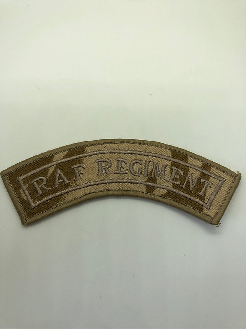 RAF Regiment Desert Shoulder Title