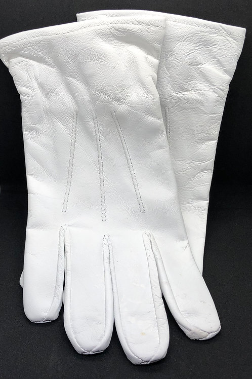 White Leather Parade Gloves