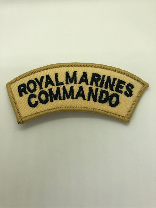 Royal Marine Cammondo Shoulder Title (Desert)