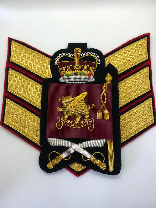Welsh Guards Colour Sergeant Rank Insignia