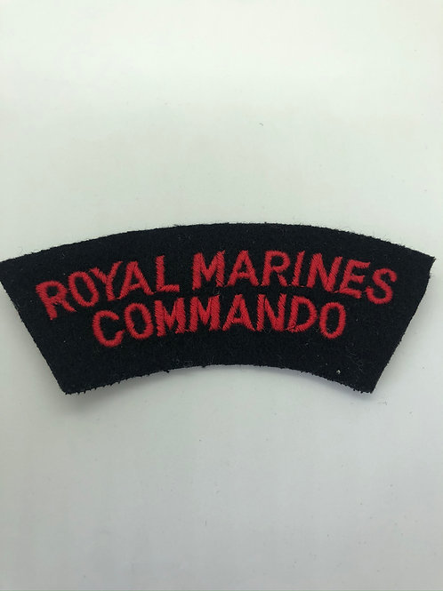 Royal Marines Commando Shoulder Title (Working Dress)
