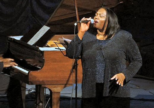 Marilyn Keller singing with Darrell Grant