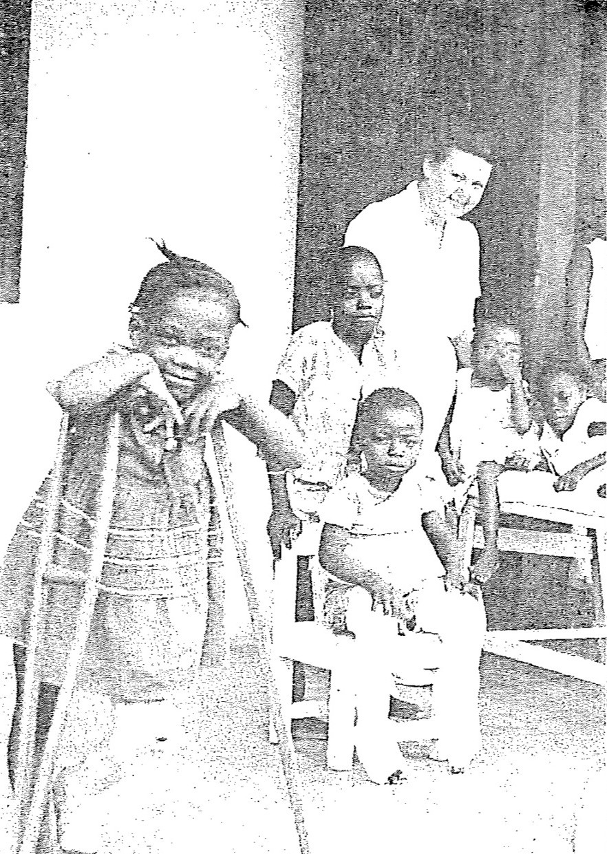 Caroline Bradshaw and House of Hope children in 1958