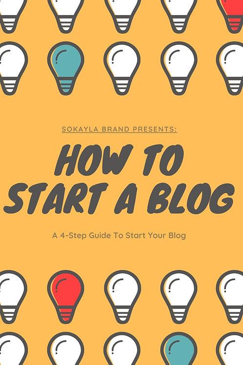 How to Start a Blog eBook
